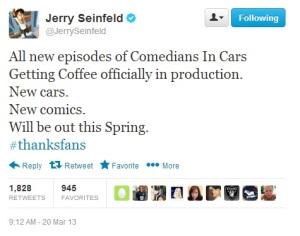 Seinfeld - Tweet new CiCGC